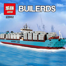 Lepin 22002 1518 Pcs Technic Series The Maersk Cargo Container Ship Set Educational Building Blocks Bricks Model Toys Gift 10241