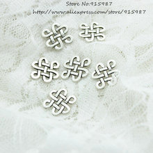 Sweet Bell Free Shipping 100pcs/lot Hollow Filigree Jewelry Findings 14*17mm Vintage Silver Diy Jewellery Making D0592
