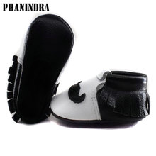 Moustache fringe genuine leather black sole Baby Shoes Tassel Baby boys First Walkers baby moccasins combine