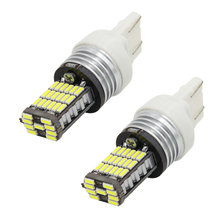 2PCS T20 W21/5W 7443 9W 450LM White Light 2017 High Quality 45 LED 4014 SMD Car led Light Rear Driving Lamp Bulb Free Shipping
