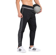 16 17 New Professional Soccer Training Pants Slim Skinny Sports Polyester Football Running Pants Tracksuit Trousers Jogging Leg