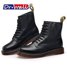 Winter Warme Schuhe für männer Martin Stiefel Runde Kappe Lase-up Ankle  Stiefel Damen Leder Kampf Booties Mode martens Frauen St.. 572e49248ffd