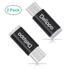 Type C Adapter 2 PACK USB Type C to Micro USB Convert Connector for Apple MacBook 12 Inch ChromeBook Pixel Nexus 5X 6P