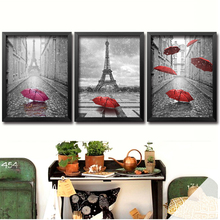 DIY diamond painting stitch Needlework diamond mosaic diamond embroidery Paris red umbrella pattern hobbies and crafts DP70