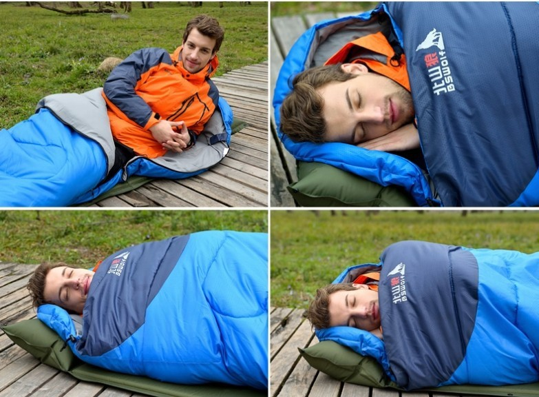 Top quality Direct selling Envelope type Thicken warm Splicing single Sleeping Bags Free shipping<br><br>Aliexpress