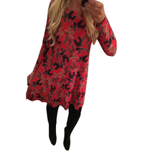 2017 New Style High Quality Women Xmas Dresses Print Swing Causal Dress Christmas Santa Claus Long Sleeve Flared Party Dresses
