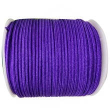 Nylon Cord+1mm Purple Rattail Satin Braid Thread WIre Macrame Rope Shamballa Bracelet Beading Cords String Accessories 350m/Roll(China)