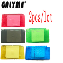 2PCS/LOT Hot 6 Color Plastic Case For DS Lite NintendoNDSL DSL Shell Full Housing W/Buttons Game GBO DMG Console Boy Kids Gift(China)