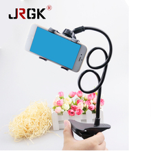 JRGK Universal 360 Rotating Flexible Long Arm Car Cell Phone Holder Stand Lazy Bed Desktop Selfie Mount Bracket Phone(China)