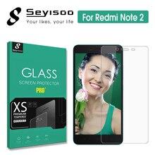 100% Original Seyisoo Brand Screen Protector Tempered Glass Xiaomi Redmi Note 2 Note2 Xiomi Premium Front 2.5D 9H 0.3mm Film