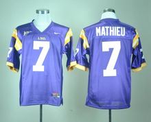 Nike Jerseys LSU Tigers Tryann Mathieu 7 White College Ice Hockey Jerseys S,M,L,XL,XXL,3XL(China)