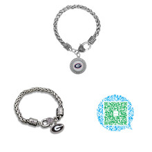 Skyrim University of Georgia Bulldogs Football UGA Logo crystal bracelet