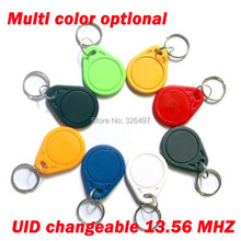 Multi color optional 100pcs Smart UID Card 13.56MHz RFID IC key tag ABS Uid Changeable block 0 writable Card(M1 1K S50)(China)