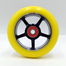 Buy New listing! 2PCS !100mm Scooter Wheels Aluminium Alloy Steel Wheel Hub High Elasticity Precision speed skating wheel 88A for $22.50 in AliExpress store