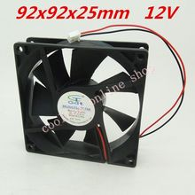 2pcs/lot 92x92x25mm  9225 fans 12 Volt   Brushless 9cm DC Fans  cooling radiator