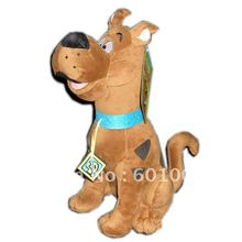 "Free Shipping EMS 20/Lot High Quality Soft Plush Cute Scooby Doo Dog Dolls Stuffed Toy New 13"" Wholesale"