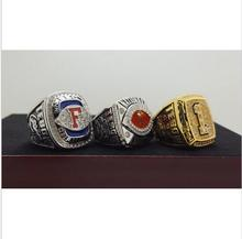 One Set 3 PCS 2008 FLORIDA GATORS BCS SEC AND NCAA FOOTBALL National Championship Ring 7-15 Size TEBOW Name Engraved Inside