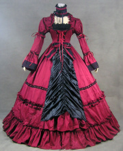Top Sale Party  Renaissance Victorian Prom  Dress Long Cotton Gothic Steampunk Dress