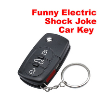 Hot Sell Funny Science Mini Electric Shock Gag Joke Prank Car Key Remote Control Fun Toys Practical Jokes Toy FL(China)