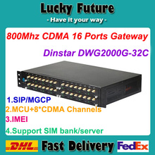Dinstar DWG2000G-32C Multifunctional CDMA VoIP Gateway 800Mhz Inserting RUIM Card 32 Ports Supports SIM Bank/Server