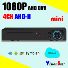 Security CCTV dvr recorder 4ch AHD-H 1080P hybrid 5 in 1 support CVI TVI AHD IP CVBS