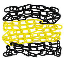 4 M/ 4.37 yd Car Parking Lock Plastic Chain Commercial Safety Barrier For Traffic Stand Warning Isolation Stop Column Road Stake(China)