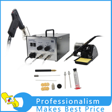 110V Or 220V AOYUE i701A+ repair rework station welder station , solder iron and smoke suction pen(China)