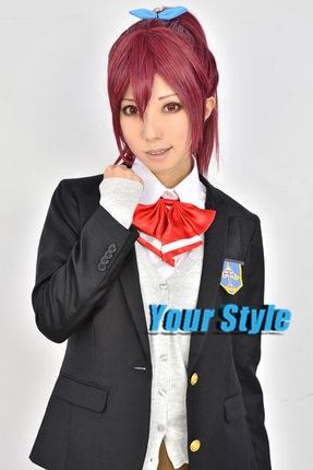 Free!!!  Gou Matsuoka Wig Cosplay Synthetic Long Straight Ponytails Burgundy Hairs Peruc Peluca Perruque Hombre<br><br>Aliexpress