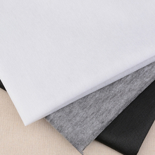 Buy 100cm 25g/45g White Grey Black Non-woven Fabric Interlinings Iron Sewing Patchwork Single-sided Adhesive Lining DIY 1PC for $1.54 in AliExpress store