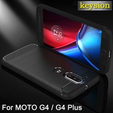 Sell Case for Motorola Moto G4/G4 Plus Mobile Phone Bag Carbon Fibre Brushed TPU Shell Phone Cases for Moto G 4 plus /G 4 Cover(China)