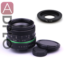 New green circle Lens 35mm Upgraded Style Manual Iris Lens with C- Mount Suit For NEX E.0SM N1 Fuji, Nikon, Ol.ympus