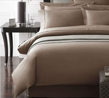 Customize Quality 1200 TC bedding 1200 thread count 100% Egyptian cotton 5 pcs bedding sets white brown colors(China)