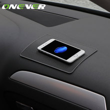 Universal Auto Car Silicon Anti Slip Pad Dashboard Sticky Mobile Phone Pad Non Slip Mat Holder For GPS Cell Phones Car Styling(China)