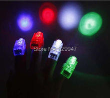 LED Bright Finger Ring Lights Rave Troch Party Glow