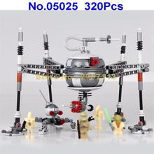05025 320pcs Star Wars Homing Spider Droid Master Lepin Building Block Compatible 75142 Brick Toy
