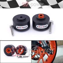 fite For KTM RC 125 200 390 DUKE Motorcycle Accessories Fork Wheel Protector Crash Sliders Cap Pad