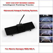 HD CCD SONY Rear Camera For Morris Garages MG6 MG 6 Intelligent Parking Tracks Reverse Backup / NTSC RCA AUX 580 TV Lines(China)