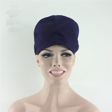 2017 New Solid Color Medical Surgical Cap 100% Cotton Hospital Dental Clinic Doctors Nurse Workwear Caps Scrub Sets Hats(China)