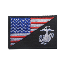 2017 New Honor US Marine Corps USMC Morale Patch American National Flag Badge USMC Embroidered Military Outdoor Armband Patch(China)