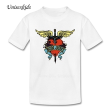 Bon Jovi T-shirt 2017 Summer Girl Boy Cool Rock Band T Shirt Children 100% Cotton Design Tshirt Baby Quality Cloth Best Selling