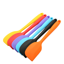 Hot!! Colorful integrated high temperature resistance silicone Spatula Baking Rubber Scraper big 28cm small 22cm Dropshipping(China)