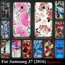 Case For Galaxy Samsung 2016 (Edtion) J7 Colorful Printing Drawing Transparent Plastic Cover For SAMSUNG J710 Hard Phone Case