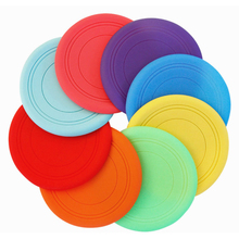 Silica Gel Material Pet Dog Puppy Beach Frisbee Fetch Throw Exercise Outdoor Game Play Beach Frisbees(China)