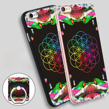 Coldplay A Head Full of Dreams Phone Ring Holder Soft TPU Silicone Case Cover for iPhone 4 4S 5C 5 SE 5S 6 6S 7 Plus