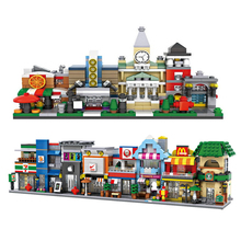 1601-1608 LOZ Mini Street Shop Blocks DIY Building Toys Cute  Store Theaters Coffee Model Toy for Christmas Gift Kids Boys Toys