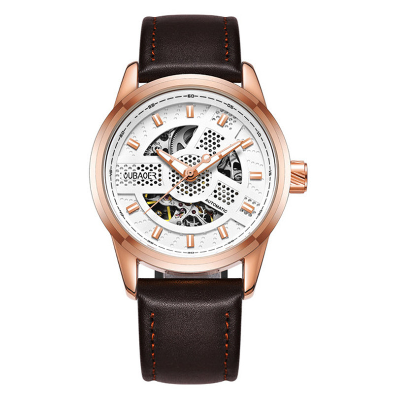 Luxury Brand Sports Men Automatic Mechanical Watches Gold Hollow Skeleton Army Military Wrist Watch Clock Leather Mens Watch <br>