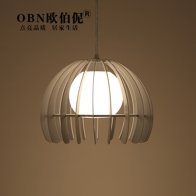 LED modern minimalist art creative personality single head semicircle black and white iron bar restaurant chandelier lamp<br>