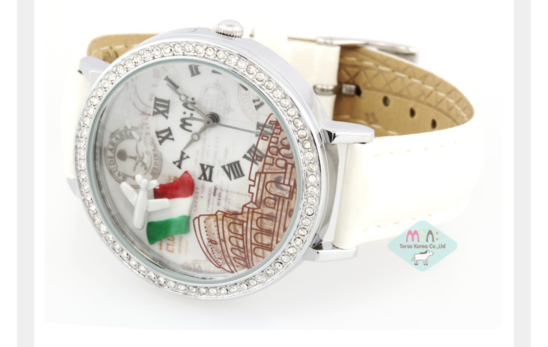 Factory Price Mini 100% Handmade Clay France Flag&amp;Airplane Watch Lovely Girls Pure White Leather Wristwatch 30M Waterproof NW858<br><br>Aliexpress