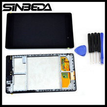 Sinbeda LCD Display with Touch Screen Digitizer+ frame Wifi or 3G Version for Asus Google Nexus 7 2 2nd Gen 2013 ME571K K008(China)
