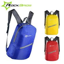 Rockbros Men&Women Outdoor Sport Cycling Bike Bicycle Bag Waterproof Ultra-thin Portable Folding Backpack 3 Colors